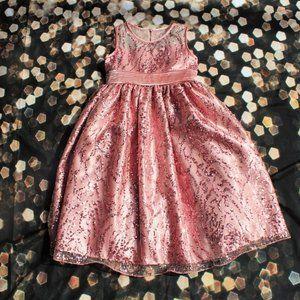 Girls Pink Sequin Formal Dress
